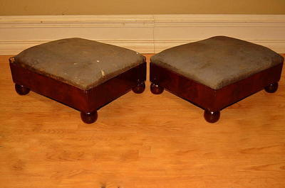 Antique Mahogany Boudior Parlor Club Chairs