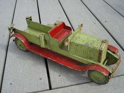 Vintage Pressed Steel Fire Truck Dayton Turner Steelcraft Keystone Antique Toy