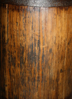 19th Century Primitive Staved Country Wooden Butter Churn 1