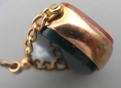 Rare Marked Antique 9 Ct Chester Pink Gold Watch Fob 1