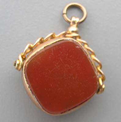Rare Marked Antique 9 Ct Chester Pink Gold Watch Fob 2