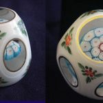 Antique Baccarat Crystal Enameled Millefiori Paperweight