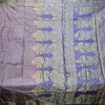 Antique Vintage Weaving 100% Pure Real Silk Fabric Sari SOIE Tissé Saree