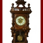 Beautiful Antique German Junghans  Free Swinger wall clock at 1900