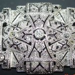 Beautiful Antique Platinum Brooch with Old European cut Diamonds