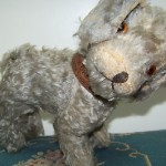 Antique Buster Brown Toy Dogmohair Glass Eyes