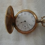 Vintage Small Elgin 15 Jewel Pocketwatch Watch Hunting Case