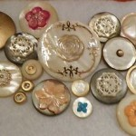 Vintage Antique Buttons Lot 22pc Abalone Shell Embellished