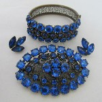 Antique Circa 1910 Brooch With Matching Bracelet Filigree Metal Sterling Silver