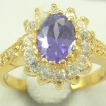 Jewelry Antique 14KT Yellow Gold Filled 3ct CZ Tanzanite Ring
