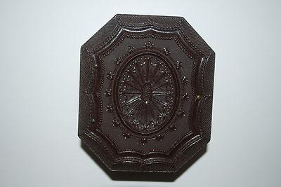 Antique Victorian union(gutta percha) photo case with ambrotype