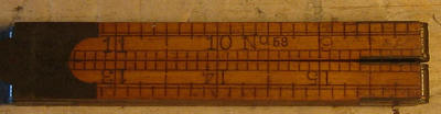 Antique vintage Stanley No. 58, 6section, 24inch folding wood brass rule ruler
