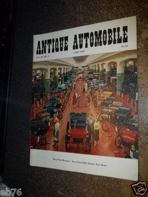 Antique Automobile Magazine June 1959 Hey Ford Museum Glidden Tour Host