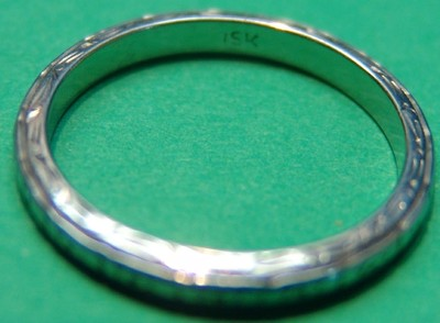 1930's ANTIQUE RING 15k WHITE GOLD JEWELRY SCRAP OR NOT 2.3 grams LOOK 1