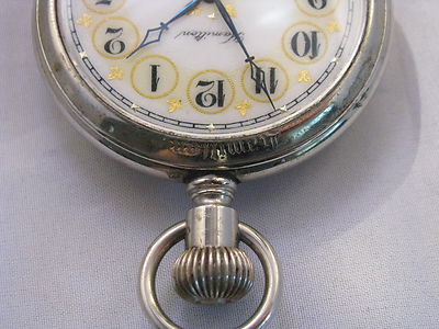 Hamilton 16 size pendant set fancy dial 17 jewel 5 position Hamilton disp case.