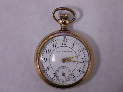 12S GOLD FILLED  ENGLAND POCKET WATCH