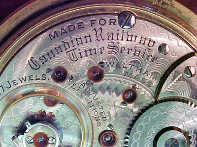 """EARLY WALTHAM """"CANADIAN RAILWAY TIME SERVICE"""" POCKET WATCH NO RESERVE"""