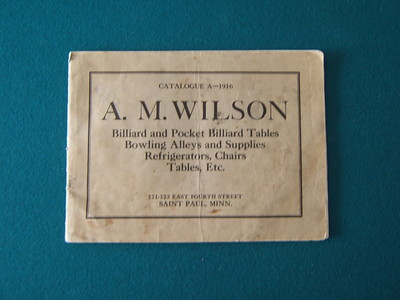 Rare 1916 A.M. Wilson Antique Billiard Table and Pool Table Catalog