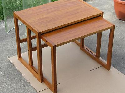Pair of Danish Modern BLMobler Denmark nesting tables Mid Century  Fine shape