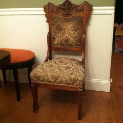 Carved Wooden Chair.very Ornate Piece
