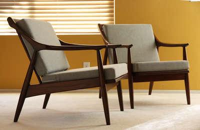 NO Reserve 2 Danish Lounge Easy chair Mid century Modern Eames Hans Wegner