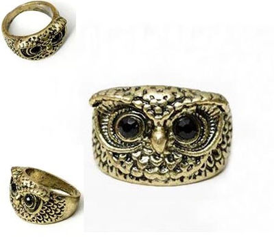 Antique style Copper OWL Finger Ring US size 7 X35