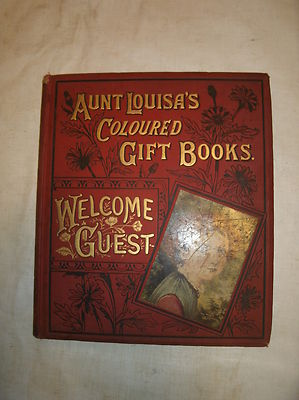 Antique Book Aunt Louisa's Coloured Gift Books tabbys tea fight 1882