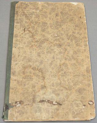 1850s Antique Nantucket School Attendance Book
