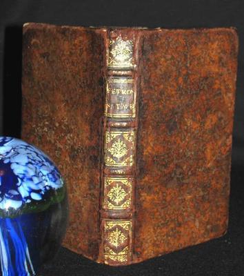 1587 Rare Antique Leather Latin Book  Petronius Petronii Arbitri Satyricon