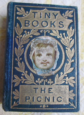 1881 Antique American Tract Society Miniature Book THE PICNIC by Annie Frost