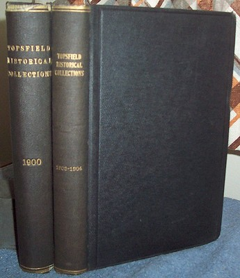 2 ANTIQUE BOOKS   TOPSFIELD MASSACHUSETTS   PIONEERS INDIANS NEGROES CIVIL WAR
