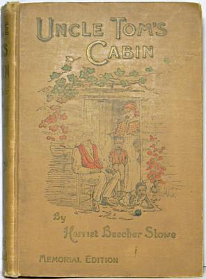 1897 UNCLE TOM'S CABIN Negro Slavery 1ST EDITION Civil War Antique vtg Book RARE