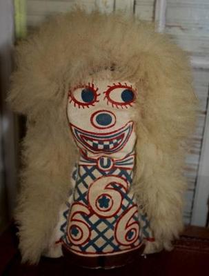 Vintage Knock Down Punk Doll Antique Carnival Art Circus Fair Amusement Game