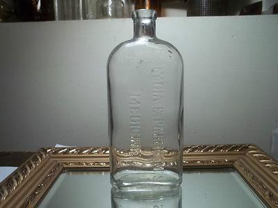 Vintage Medicine Bottle Lydia Pinkhams Medicine Large Flask Type Antique Bottle