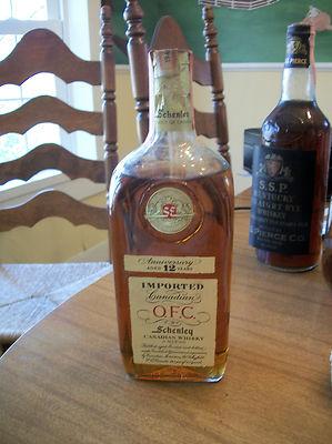 Rare Antique  O.F.C. Schenley Whiskey Bottle Velvet Bag