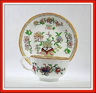 EARLY ANTIQUE ENGLISH PORCELAIN JAPANESE KAKIEMON CUP SAUCER TEA SET