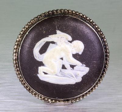 Antique Vintage Wedgewood Sterling Silver Pin Brooch