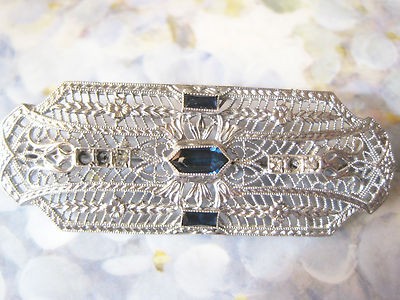 RARE ANTIQUE OSTBY & BARTON STERLING FILIGREE BROOCH / PIN TITANIC NOT SCRAP