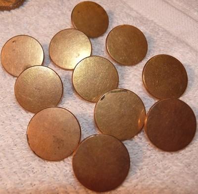 11 Antique L & Kendrick Treble Gilt Brass Buttons