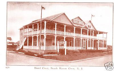 SCARCE BEACH HAVEN CREST NJ HOTEL CREST VINTAGE ANTIQUE EARLY OLD RARE POSTCARD
