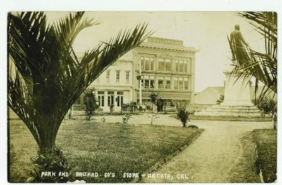 """Antique RPPC """"Park and Brizard Co.'s StoreArcata, Cal."""""""
