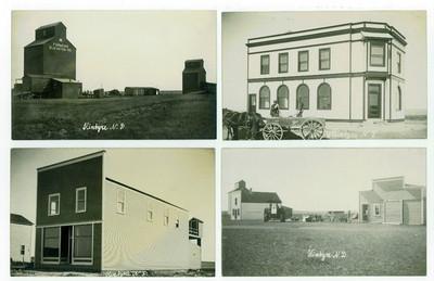 (4) Antique RPPC Real Photo Postcard's from Kintyre, North Dakota