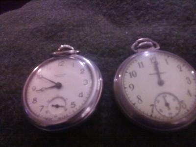 2 lot of vintage antique pocket watches repair westclox mastercraft