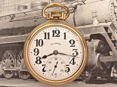 Illinois Bunn Special 60 Hour 21 Jewel  Railroad Pocket Watch  NO RESERVE