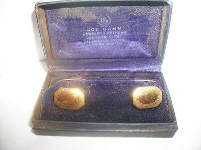 Antique Men's Cufflinks in Original Box Jos. Gumm Jewelers Michigan