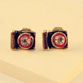 Vintage Diamante Antique Camera Earring Fashion Earrings 6293