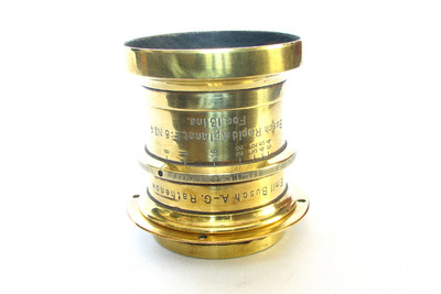 Antique Busch Rapid Aplanat No4 13″ Brass Lens For Wet Plate Camera #200252