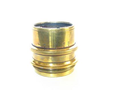 Antique Ross Homocentric 10″ Brass Lens For Wet Plate Camera