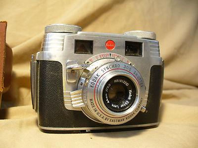 Vintage Antique Eastman Kodak Signet 35 mm Film Camera with Leather Case V Good