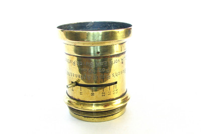 Antique Emil Busch Rapid Aplanat No3 10 Inch  Brass Lens For Wet Plate Camera